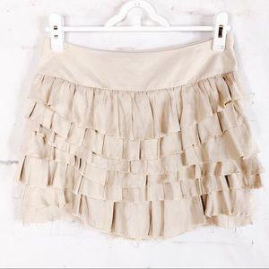 Express Woman's Raw Hem Ruffle Skirt Size 0